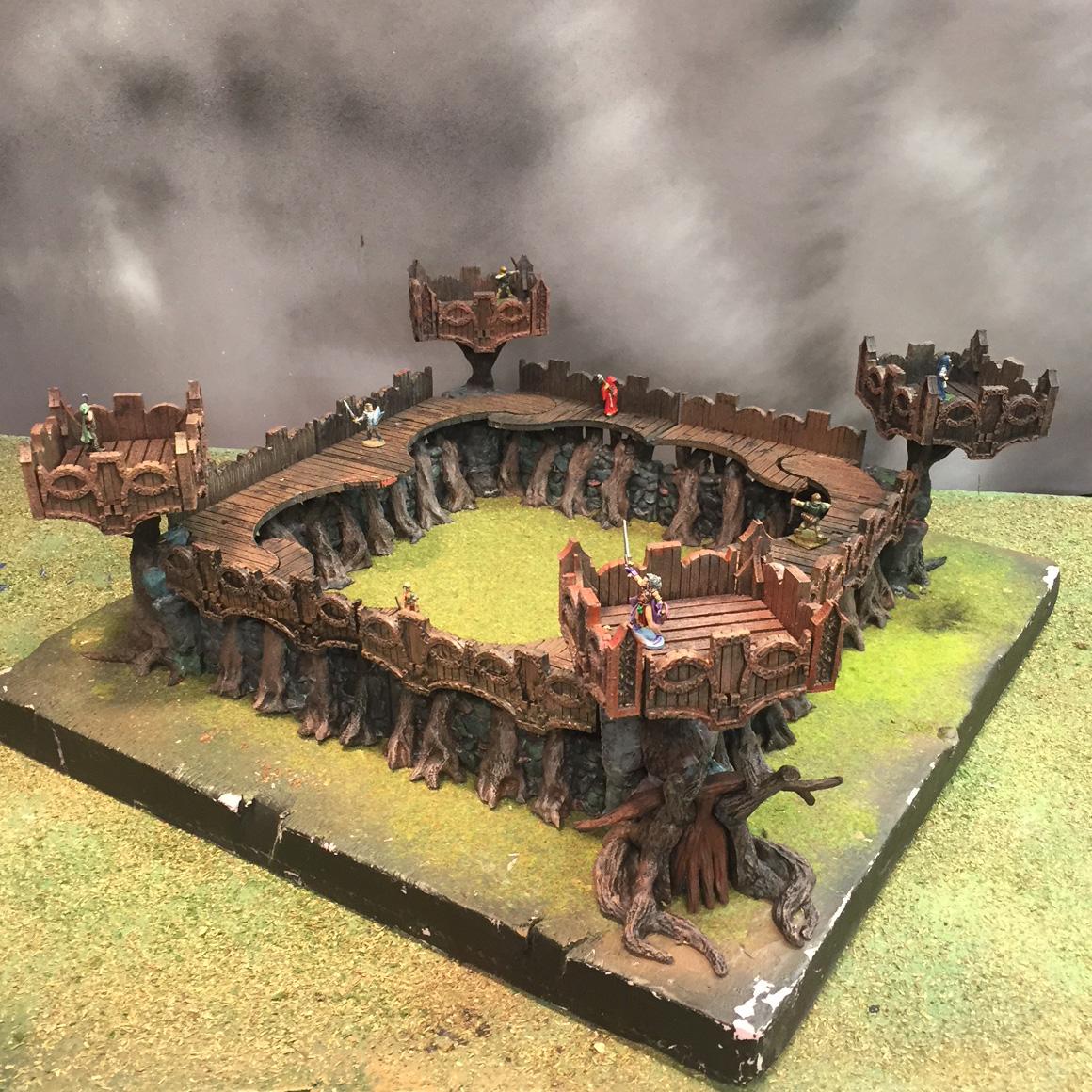 Elf Miniature Wargamming Terrain : Stand-alone Fort
