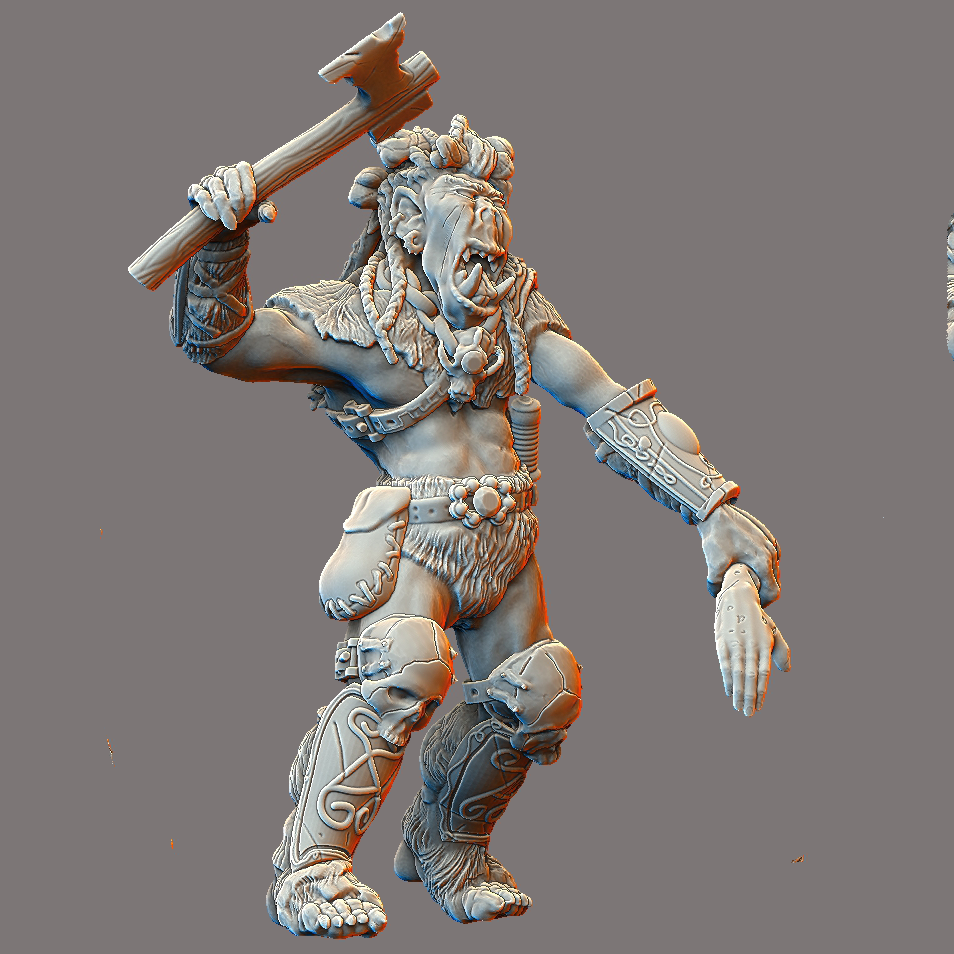 Orc Model available on Thingiverse