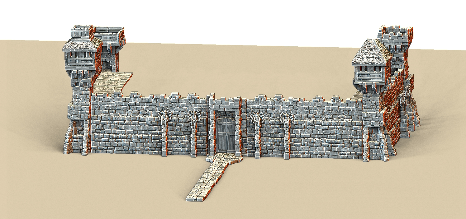 picture about Printable Terrain named 3D Printable Castle Partitions for Wargaming Terrain (Video clip