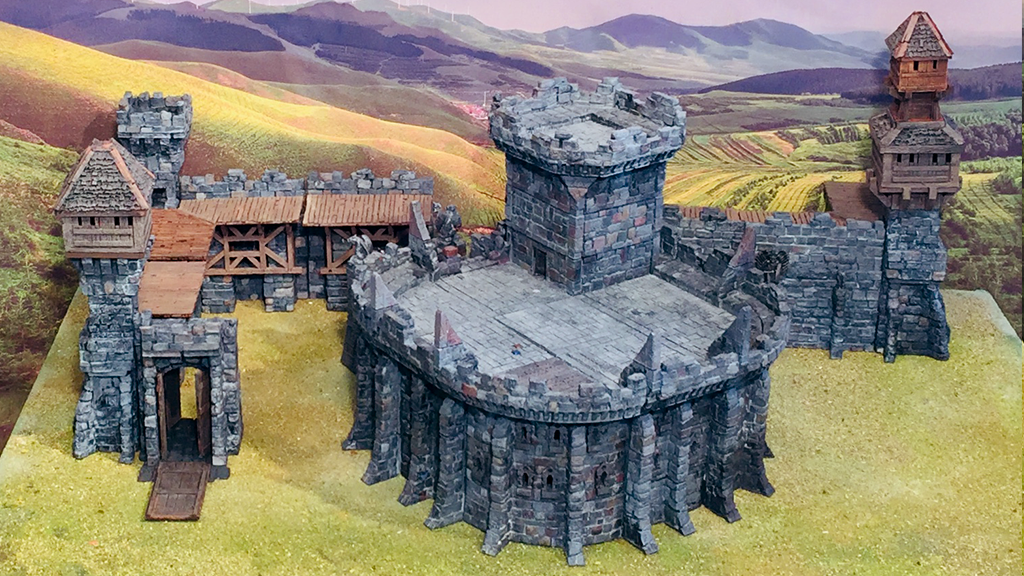 photo about Printable Buildings named Elf Fortress and 3D Printable Structures Advancement GameScape3D