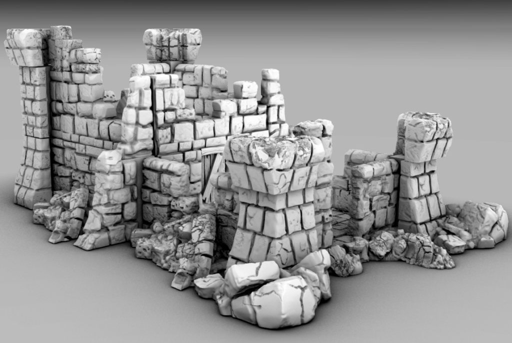 Free 3D Printable Castle Ruins