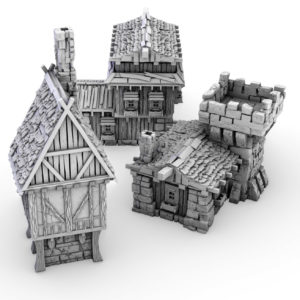 3D Printable Fantasy Buildings