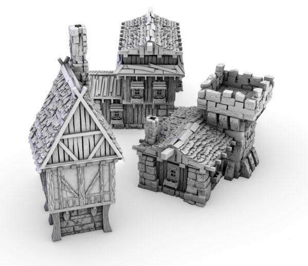 3D Printable Fantasy Buildings