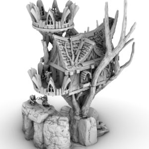 Fantasy Elf Tree House