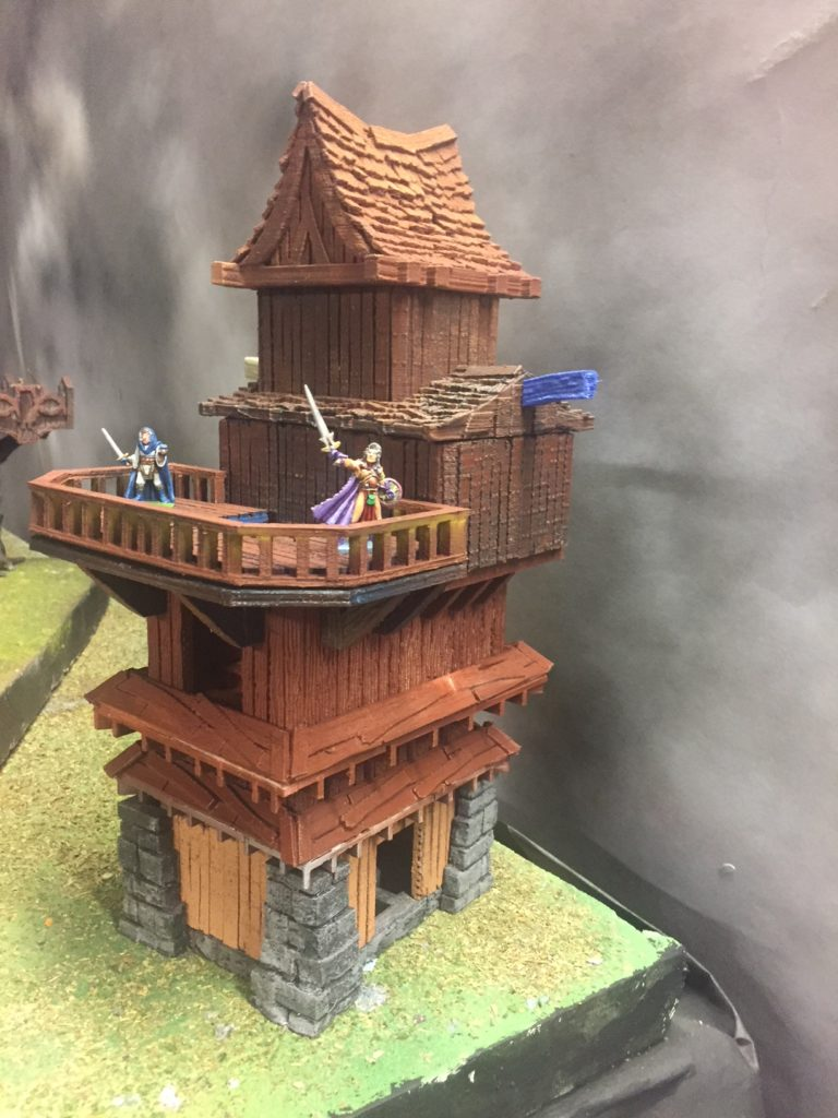 Vertical Build System for 3D Printable Terrain