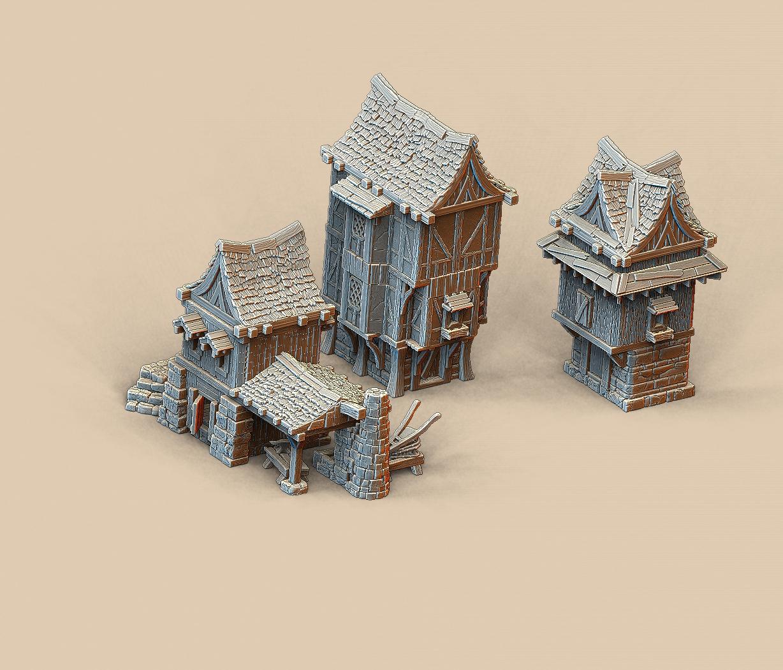 OpenPeg Infinite Stacking Medieval Buildings For 3D