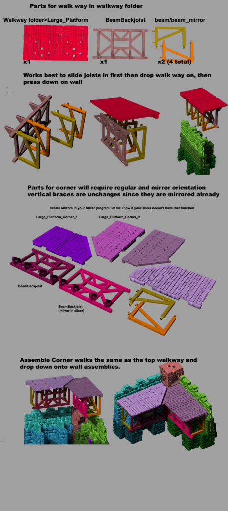 Fortress Walls for 3D Printing