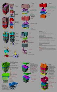 Modular stackable buildings