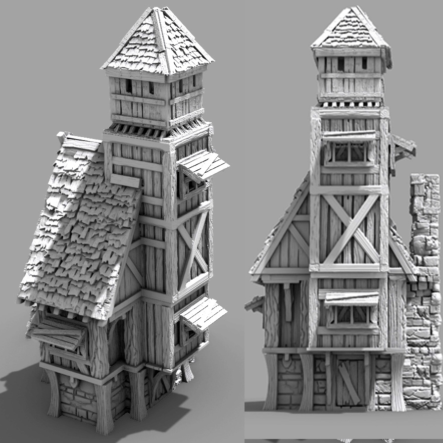 3D Printable Town Watch Building