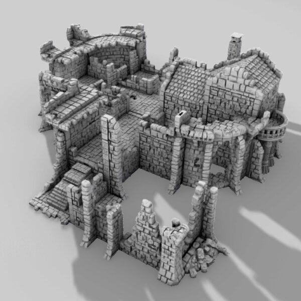 3D PRINTABLE CASTLE RUINS