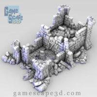 3d model castle ruins