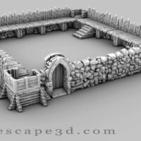 3d printable pallisade fort