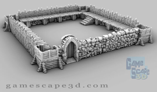 3d printable pallisade fort